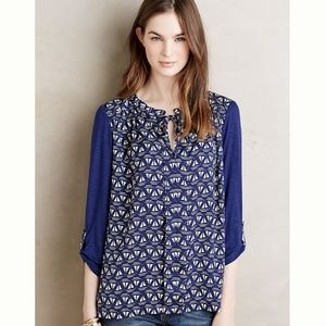Anthropologie Meadow Rue Evella Blouse in Blue